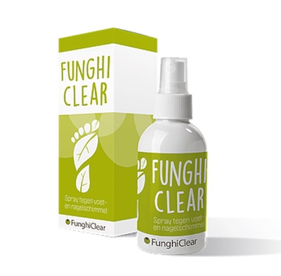 FunghiClear anti-schimmelspray tegen voetschimmel, nagelschimmel, kalknagels LePair professional